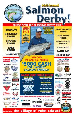 2017 Bluewater Anglers Salmon Derby Poster